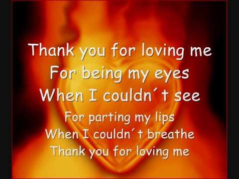 thank u for loving me