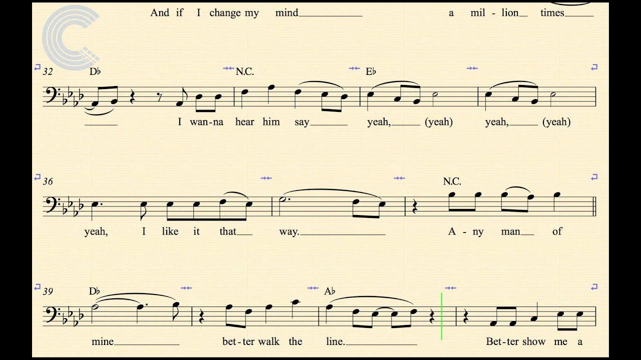 Cello Any Man Of Mine Shania Twain Sheet Music Chords