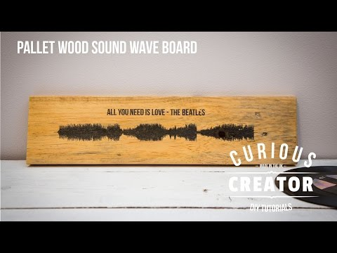 #5 Pallet Wood Sound Wave Art - DIY Curious Creator