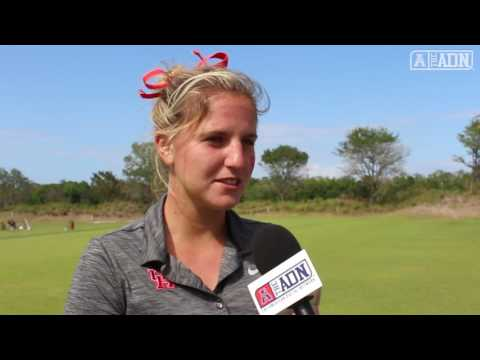 American Women's Golf Championship Round 1- Interview with Houston's Leonie Harm