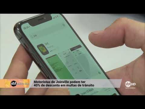 Moradores de Joinville podem ter 40% de desconto se pagar multas de trânsito pelo aplicativo
