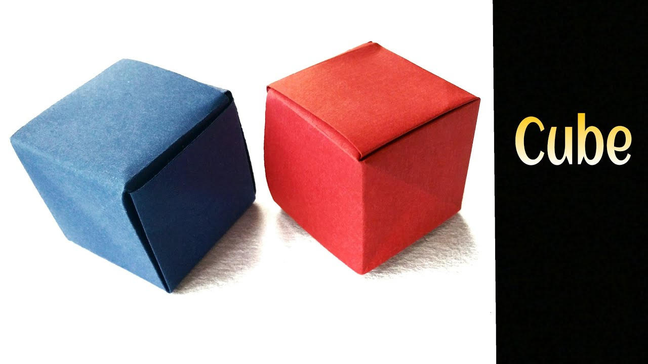 Origami Paper Seamless Cube