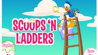 Mickey Mouse Games Donald Duck Scoops N Ladder Online Video Game