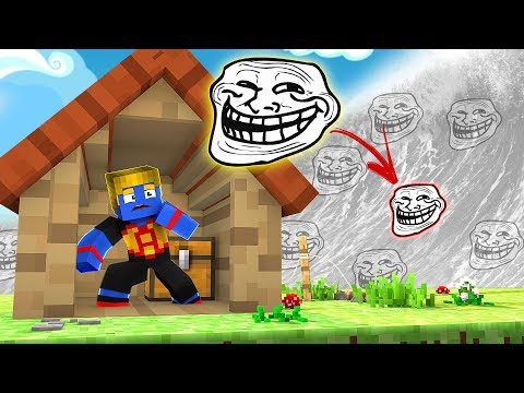 Minecraft: DESAFIO DA BASE 100% SEGURA TSUNAMI DE TROLL   Afreim