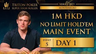 Triton Montenegro 2019 - NLH Main Event €110K - Day 1