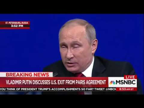 Vladimir Putin Lectures The United States On Climate Change