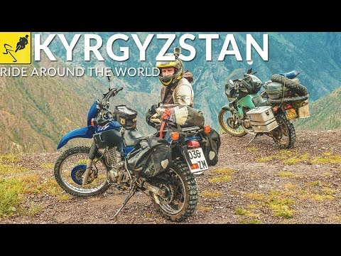 MOTORBIKE TRAVEL Around the WORLD, Central Asia - Kyrgyzstan