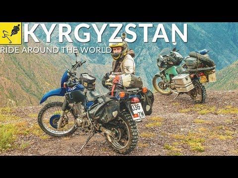 MOTORBIKE TRAVEL Around the WORLD, Central Asia - Kyrgyzstan