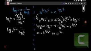 Logaritmada taban iç değişimi ve üstel fonksiyonun logritması formüllerinin ispatı Video
