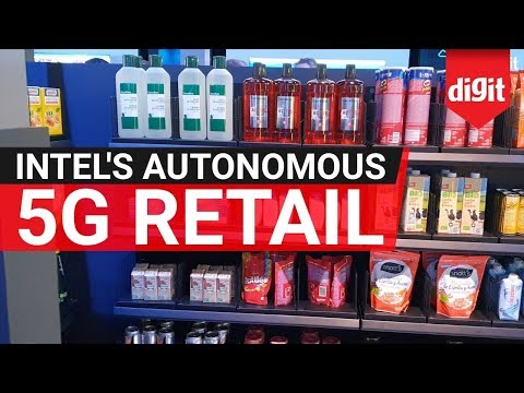 Here's What An Autonomous 5G-enabled Smart Store & Smart Kiosk Will Do | Demo by Intel | Digit.in