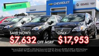 2016 New Buick Encore and New Buick Verano Clearance Blowout Sale Savings