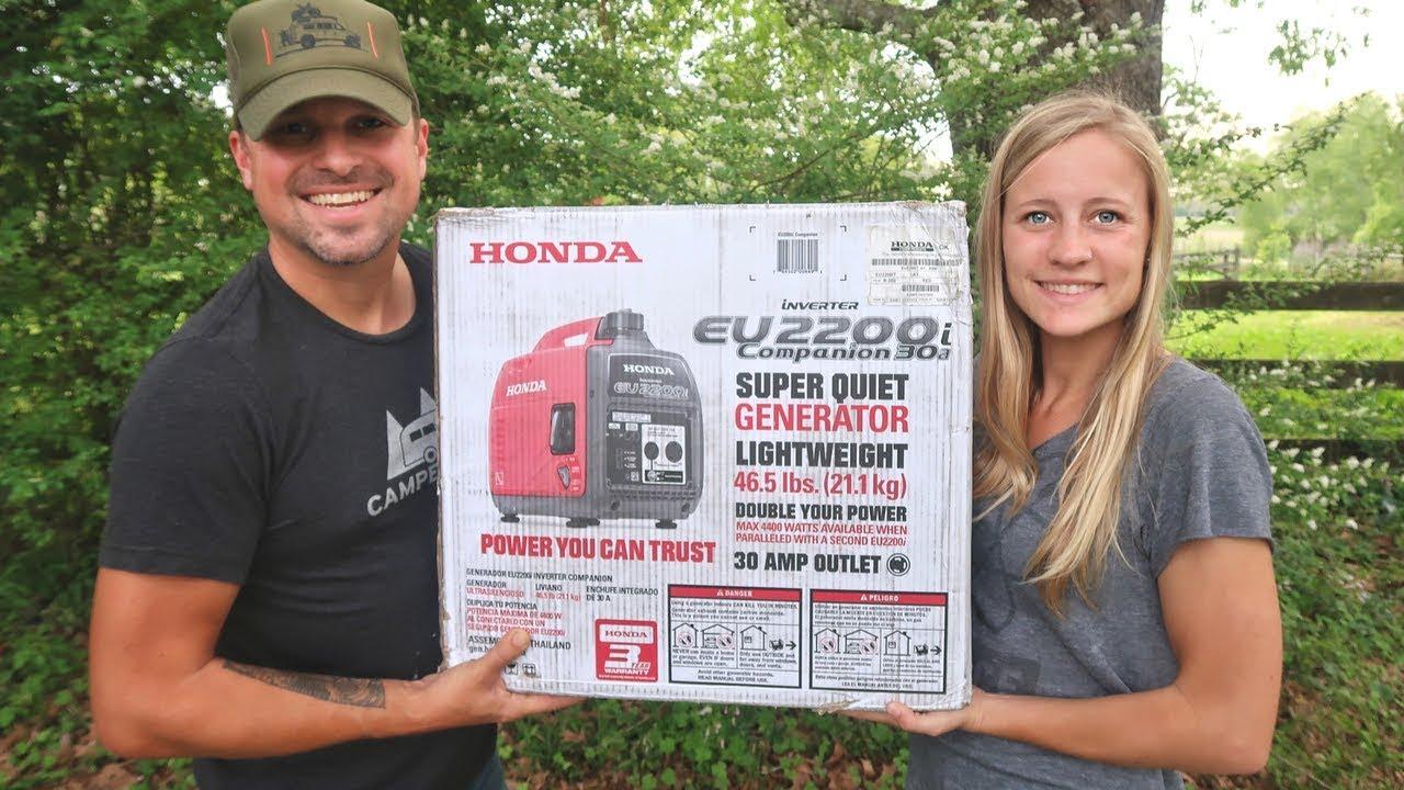 Unboxing Brand New Honda Eu2200i Generator 2200 Youtube Prime Genset Pr6500cl 5000watt