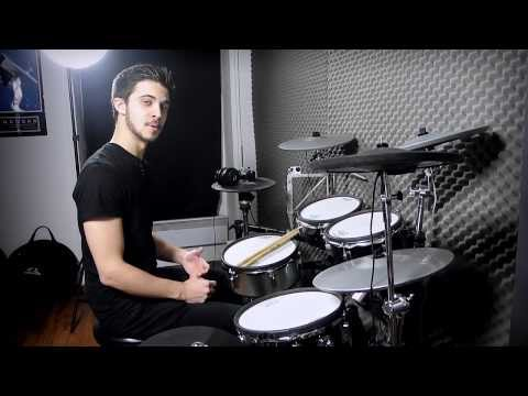 Rock Metal Drum Beat on Roland V-Drums - Triggered By Steven Slate Drums - Terry Date Pack