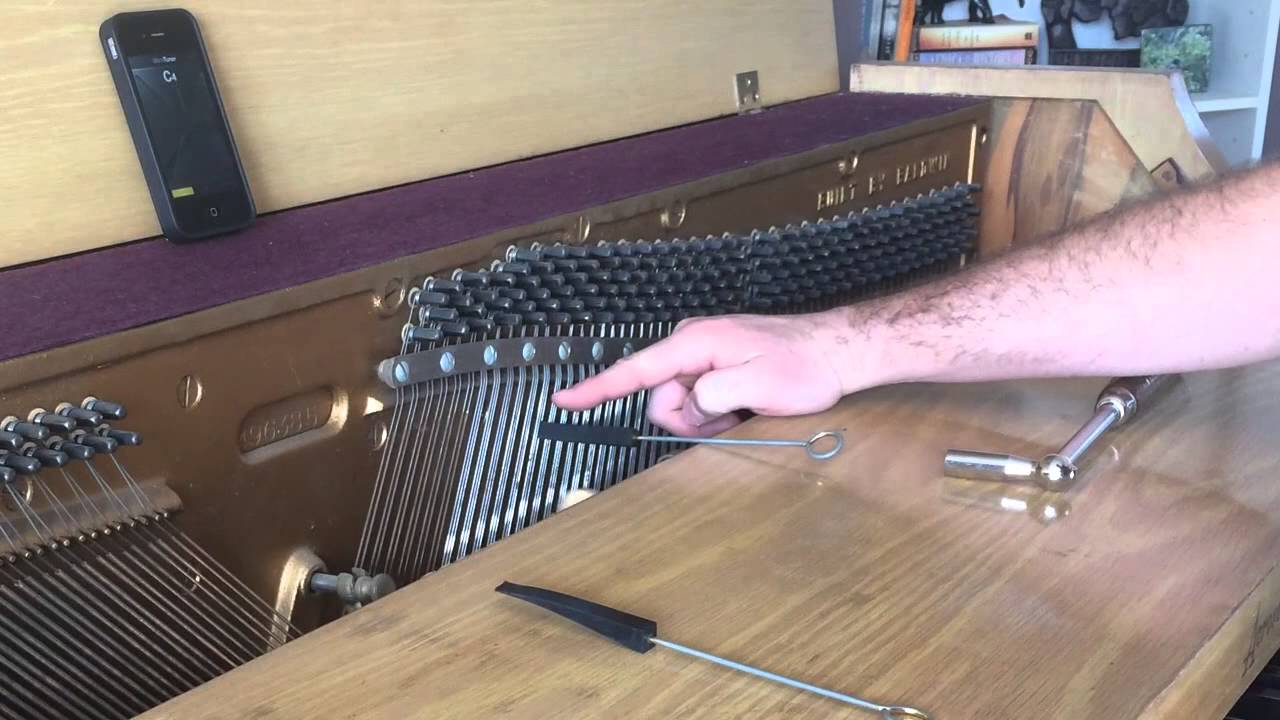 Piano tuning / tune your own piano - tools, tuning middle C