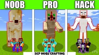Minecraft Battle  SCP MONSTERS FAM LY CRAFT NG CHALLENGE   NOOB Vs PRO Vs HACKER Vs GOD Animation