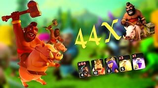 Clash of Clans - Ganimet kasma / Full domuz binici / Full pig rider attack / Full hog rider attack