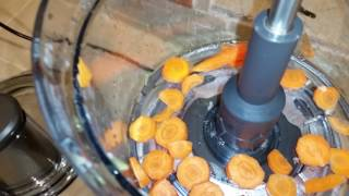 thick 8mm carrot slices for chicken soup breville sous chef the best food processor