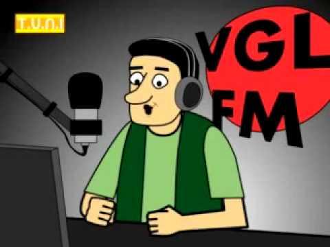 Lawak kartun di radio