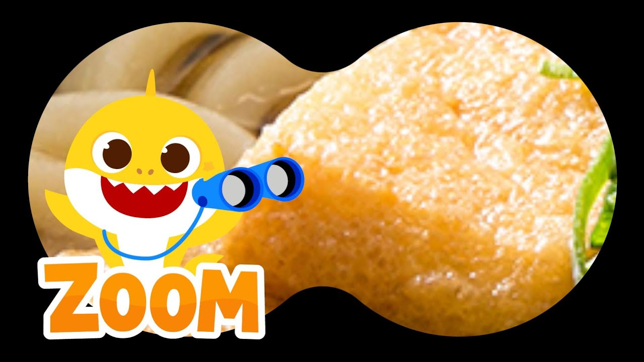 Guess the Food with Baby Shark   Yummy Meal Time   Puzzle Game for Kids   Zoom Zoom Zoom