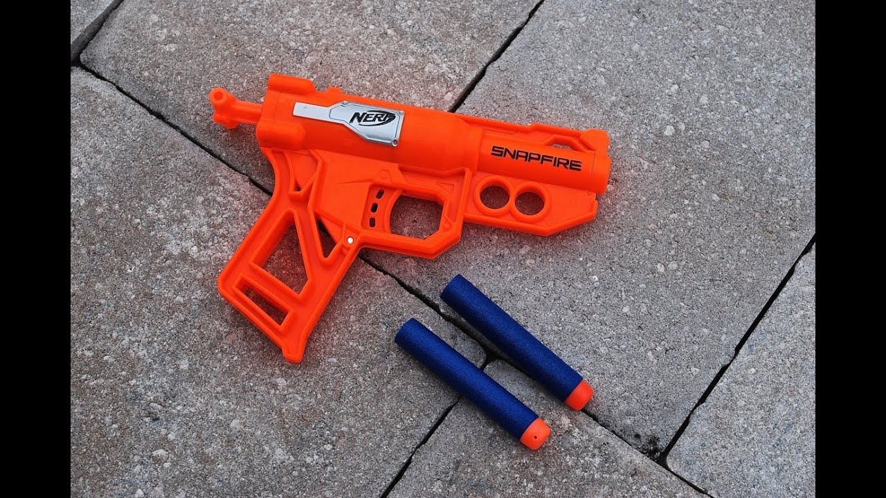 Review Nerf N Strike Snapfire Review Firing Test Youtube