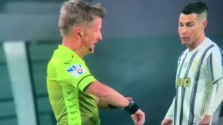 Cristiano Ronaldo non crede all'orologio di Orsato e chiede di poter controllare Juventus Roma 2 - 0