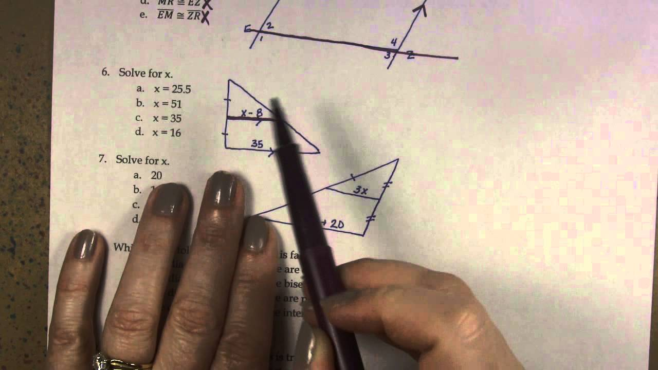 Chapter 6 Practice Test Answers - YouTube