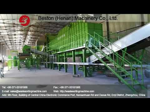 Beston Solid Waste Disposal Machine with High Sorting Rate Installed in Uzbekistan