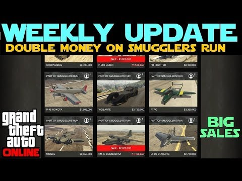 GTA 5 Online | Weekly Discounts and Double Money and RP on Smugglers Run thumbnail