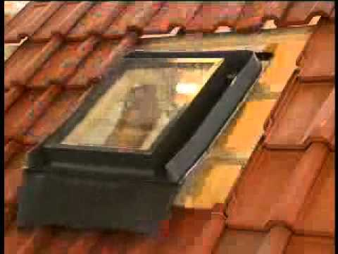 Fenstro Skylight Installation On A Tile Roof Youtube
