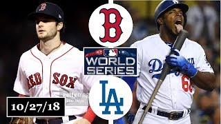 Boston Red Sox vs Los Angeles Dodgers Highlights