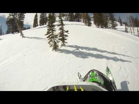 Snowmobiling In The Utah Backcountry Big Jumps! Avalanche!