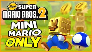 Is it possible to beat New Super Mario Bros. 2 as Mini-Mario?