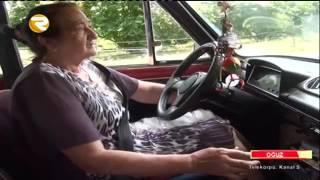 70 yaşlı Cahanə nənə 36 ildir taksi sürücülüyü edir Region TV Region TV