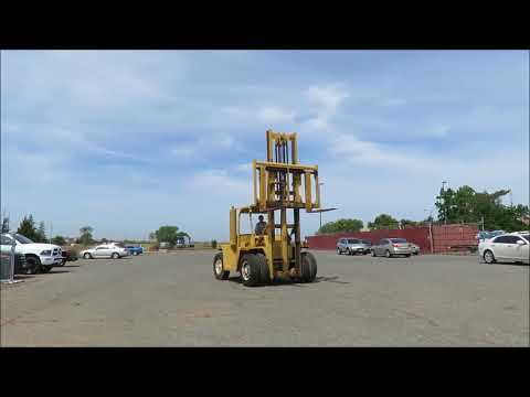 Clark 15,000 LB Capacity Diesel Forklift with Fork Extensions