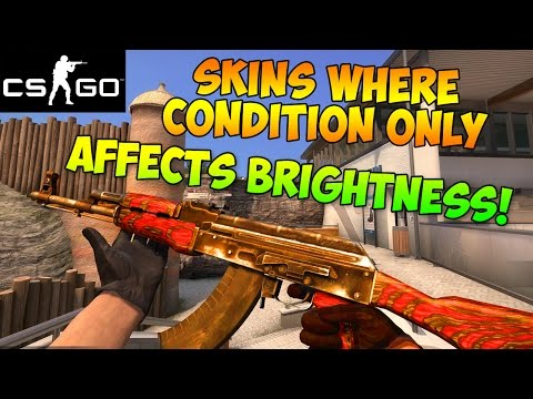 CS GO - Gun Skins Where Condition Only Affects Brightness! (CSGO Skin Wear Guide)