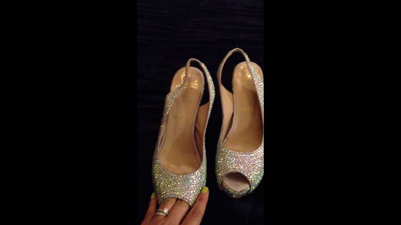 75d13a4a1a1 christian louboutin fake vs. authentic strauss glittered soles - YouTube