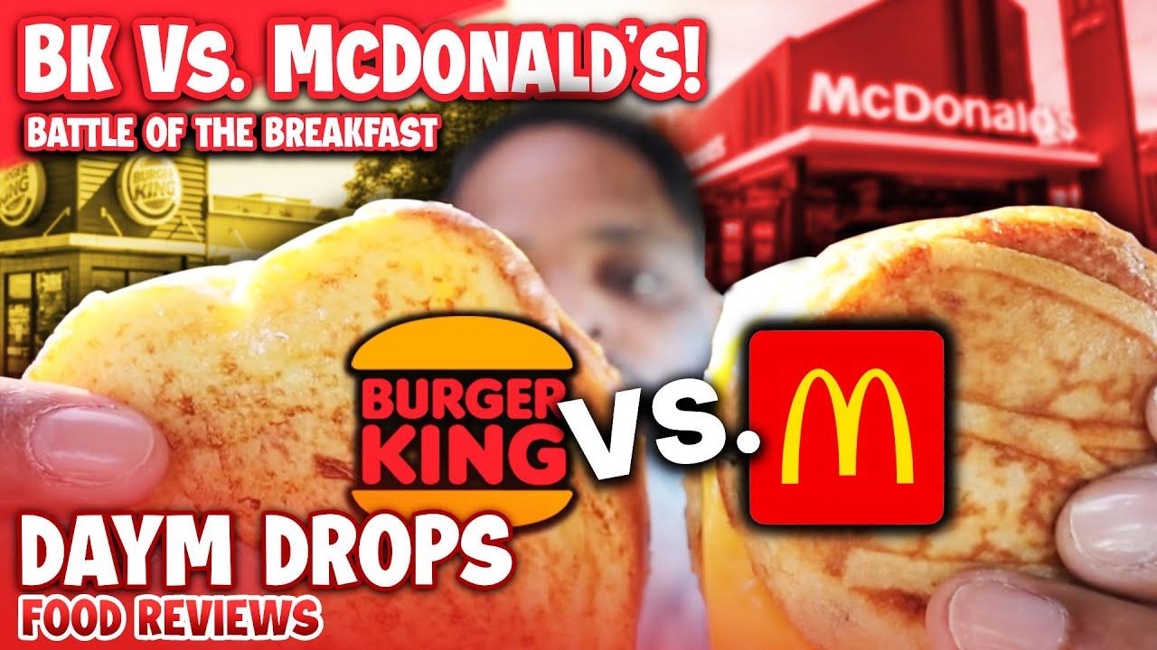 McDonald's McGriddle vs Burger King French Toast Sandwich