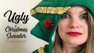 CLEAN WITH ME | Ugly Christmas Sweater Challenge 2018 || WIN A $50 VISA GIFT CARD