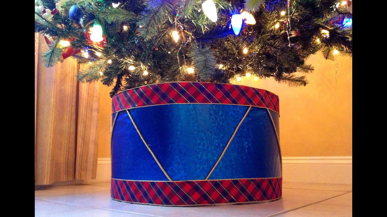 Tree Skirt Alternative Create A Drum As Your Christmas