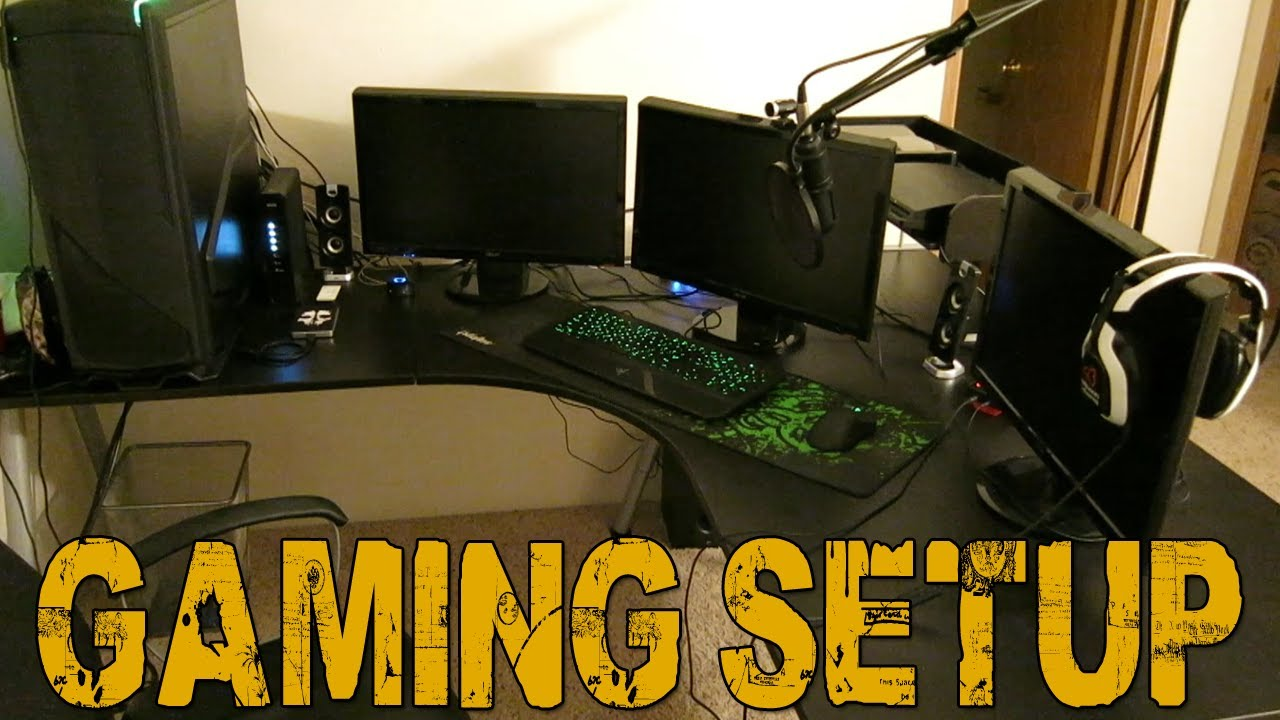 Goldglove S Gaming Setup New Apartment Office Youtube