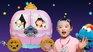[25분]라임의 웃기는 아이스크림가게 | 신데렐라미미 호박마차 화장대 | 라푼젤 미미화장대 장난감 놀이 LimeTube & Toy 라임튜브