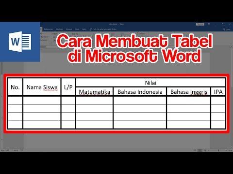 Cara Bikin Membuat Tabel Di Word Youtube
