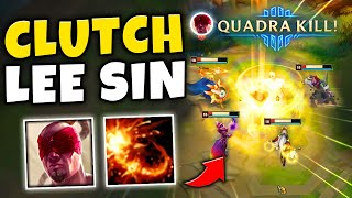 THIS LEE SIN QUADRA KILL SAVED THE GAME!! BUT CAN I FINISH THE CARRY?? - League of Legends