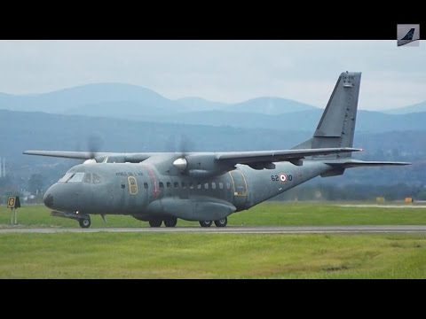 [Rejected Takeoff] French Air Force Casa CN235 Taxi & Takeoff at YQB!