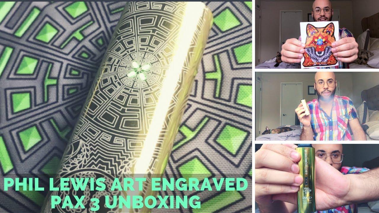 Phil Lewis Art Laser Engraved Pax 3 Vaporizer Unboxing