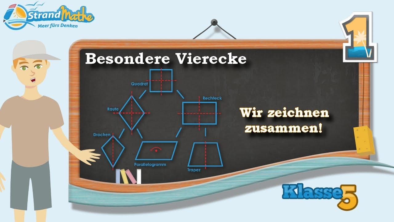Vierecke verstehen || Raute Drachen Parallelogramm - Klasse 5 ...