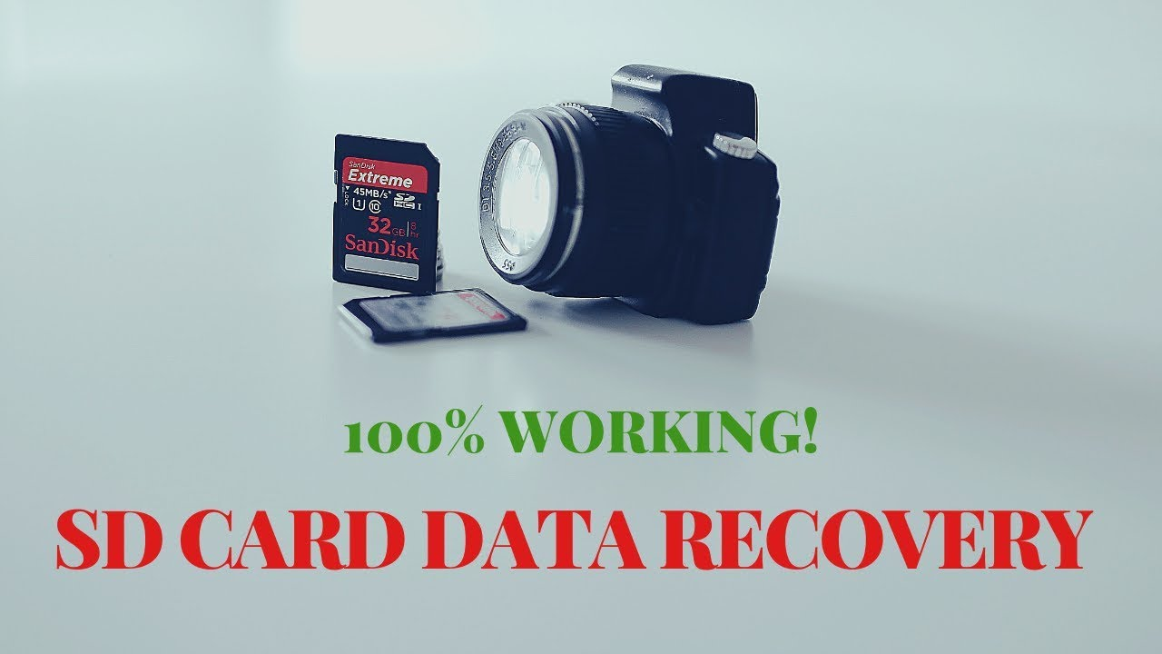 The easy way to restore lost files on a SD card