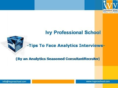 Tips to Face Analytics Interviews