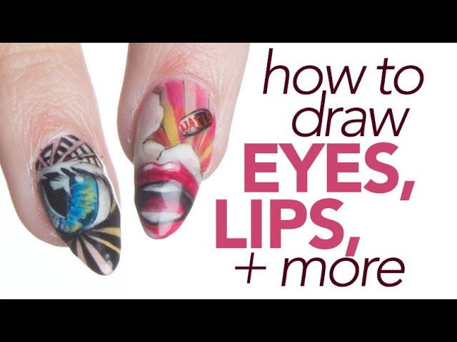 Detailed Pop Art Nails: Draw Eyes, Lips, and More with Our August Cover