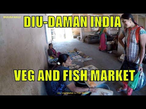 Diu Veg Market To Fish Market Visit 2019